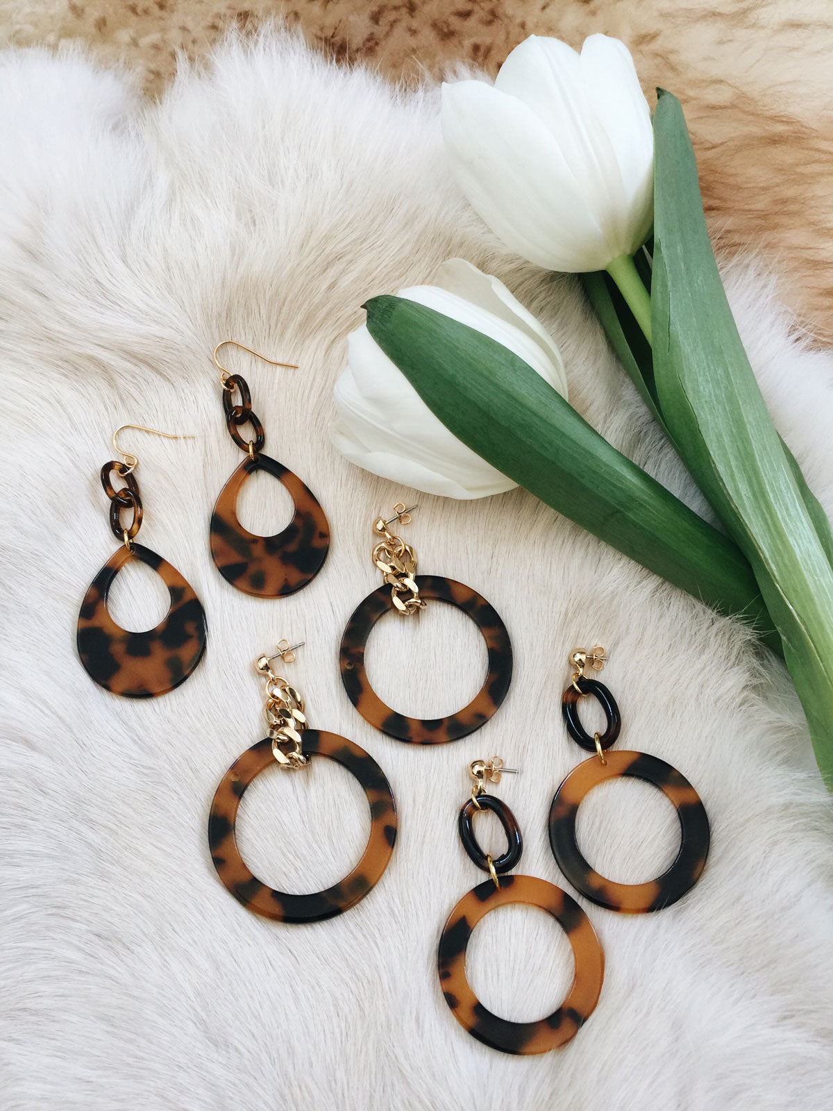 blonde earrings grande tortoise hoops machete in sale shop garmentory le ash