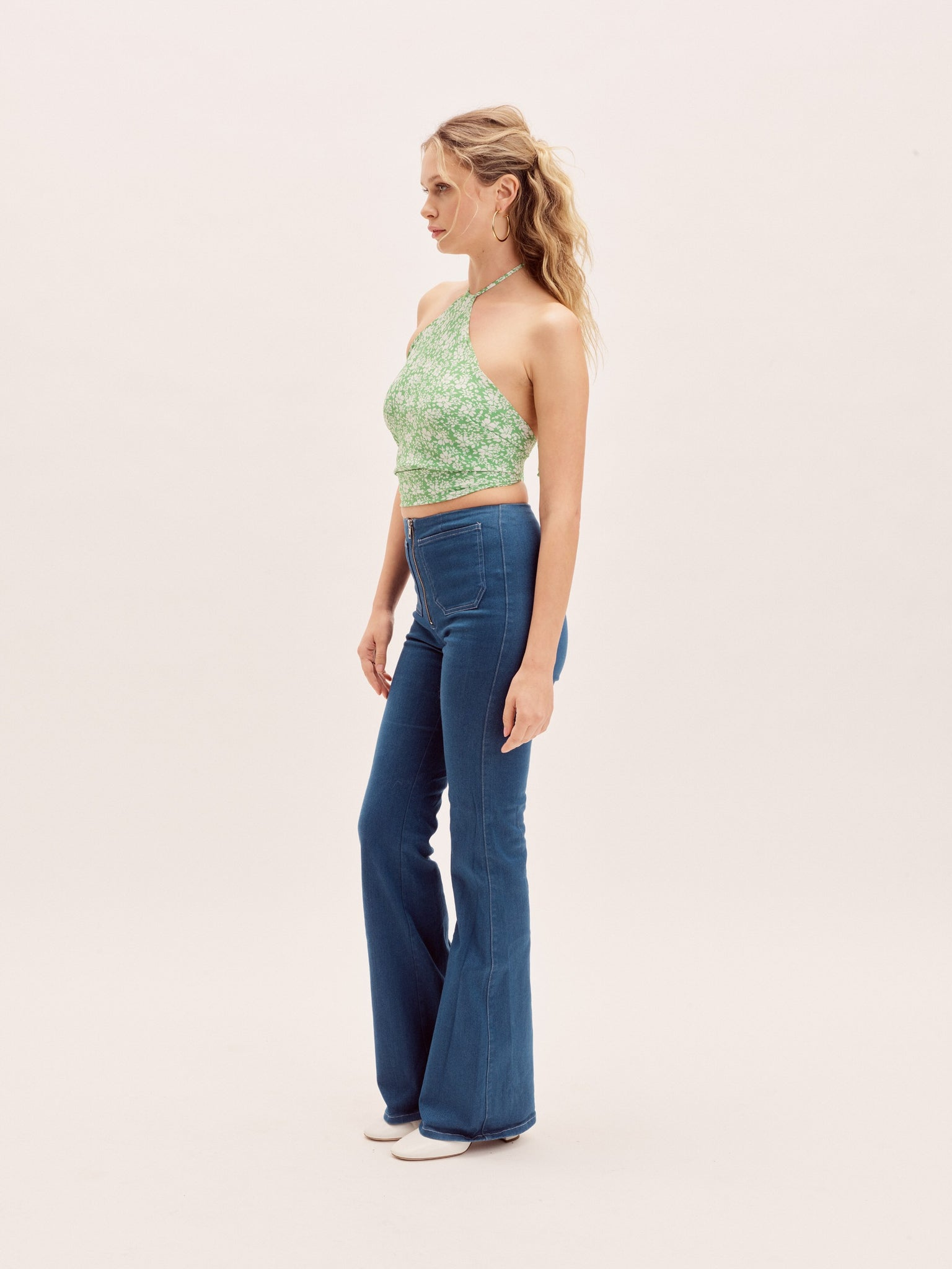 Clothing The Elle Top - Spring Green Vanessa Mooney