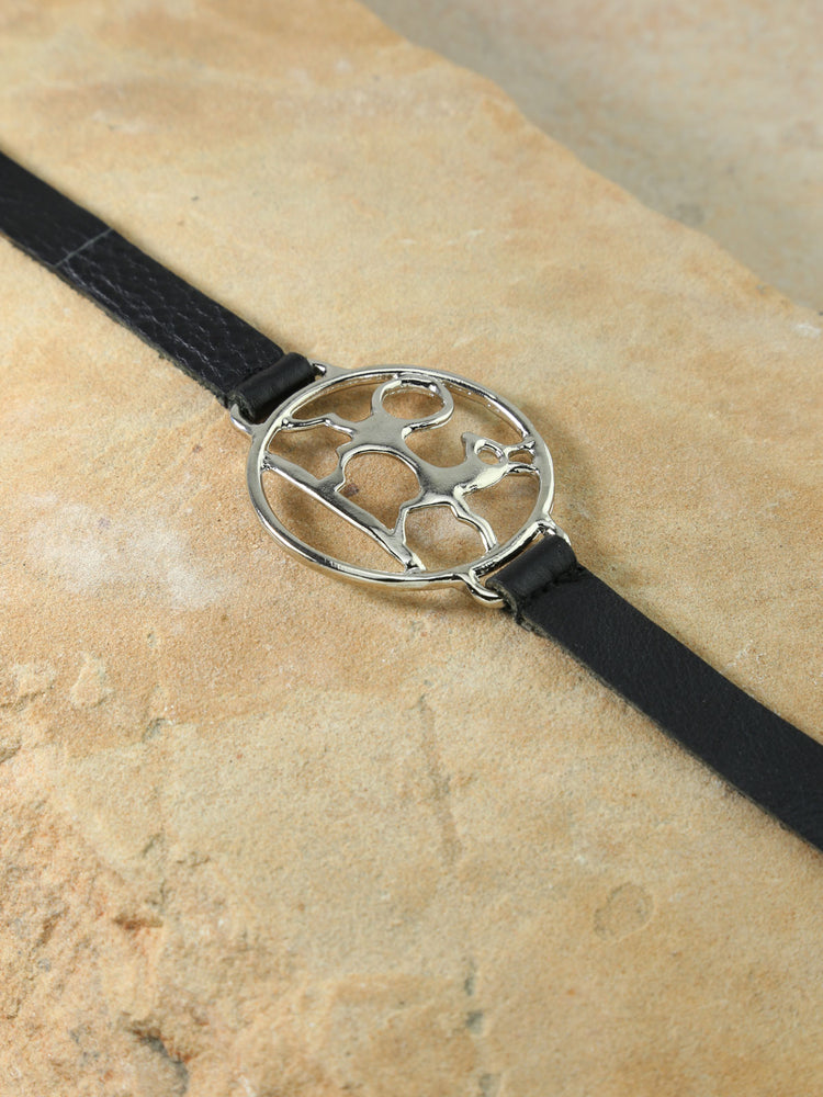 The Midas Leather Belt Silver