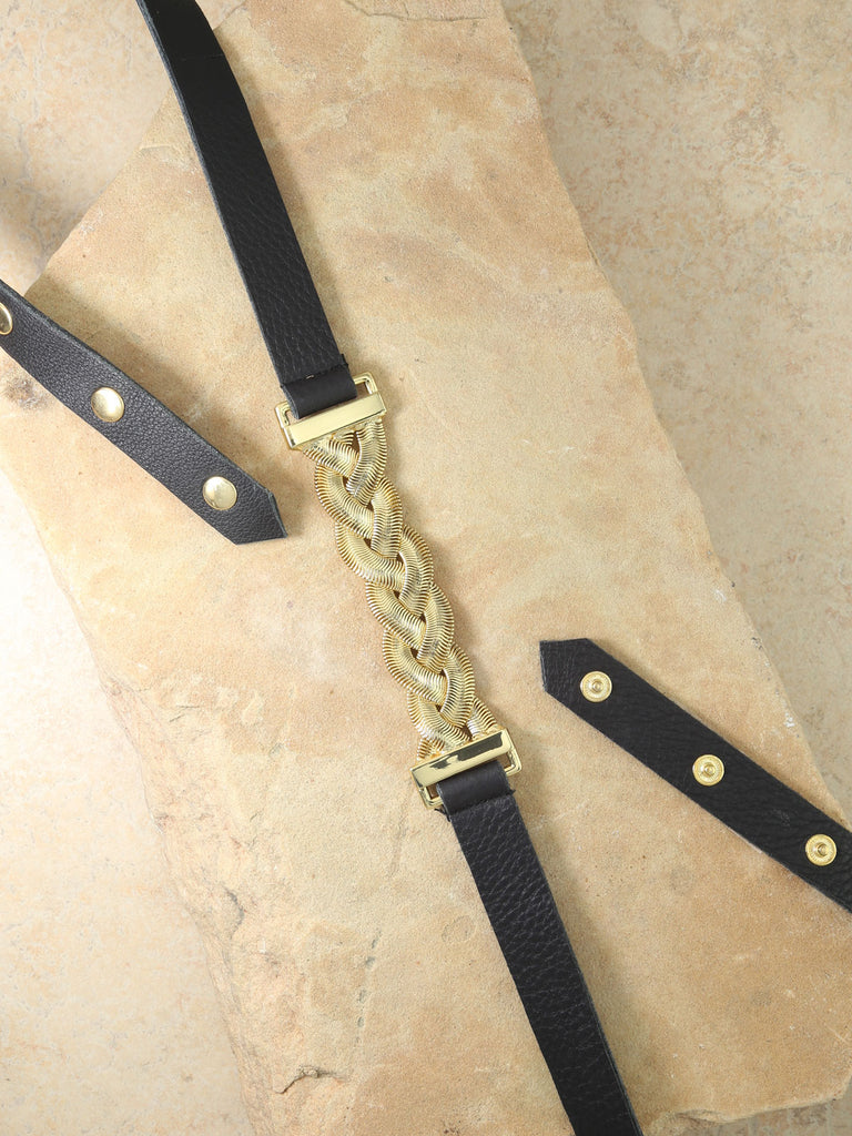 Belts The Aphrodite Black Leather Belt Vanessa Mooney
