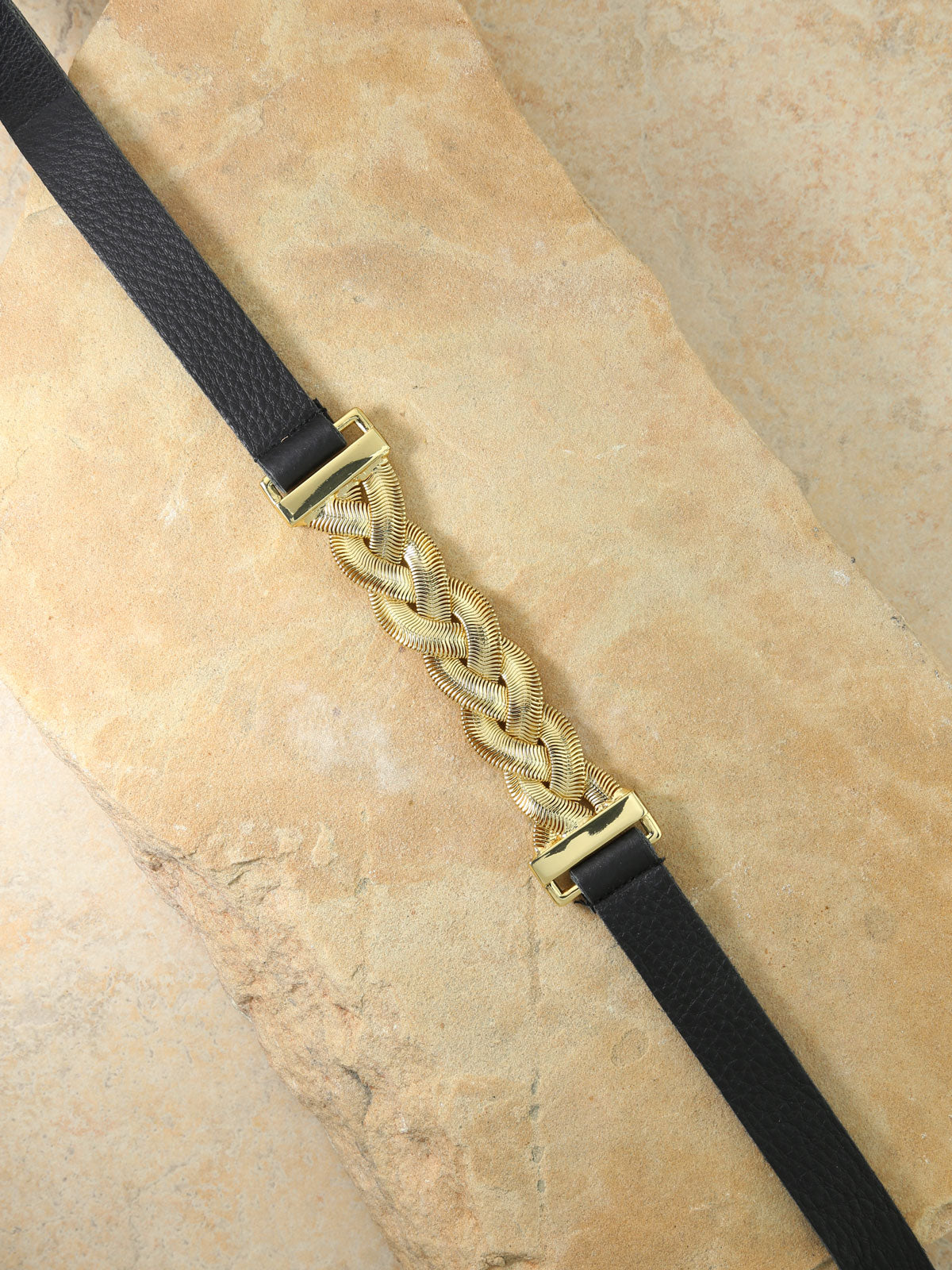 The Aphrodite Black Leather Belt