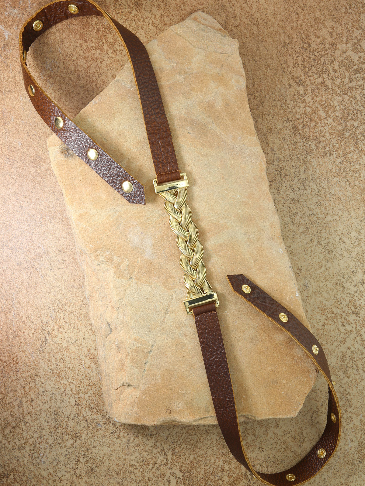 The Aphrodite Brown Leather Belt