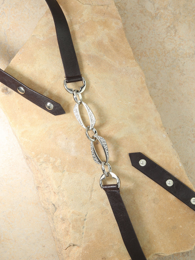 The Hera Leather Belt - Silver
