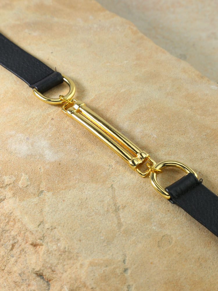 The Apollo Leather Belt Black