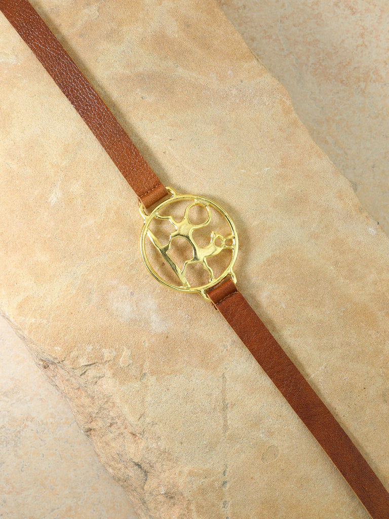 The Midas Leather Belt Gold