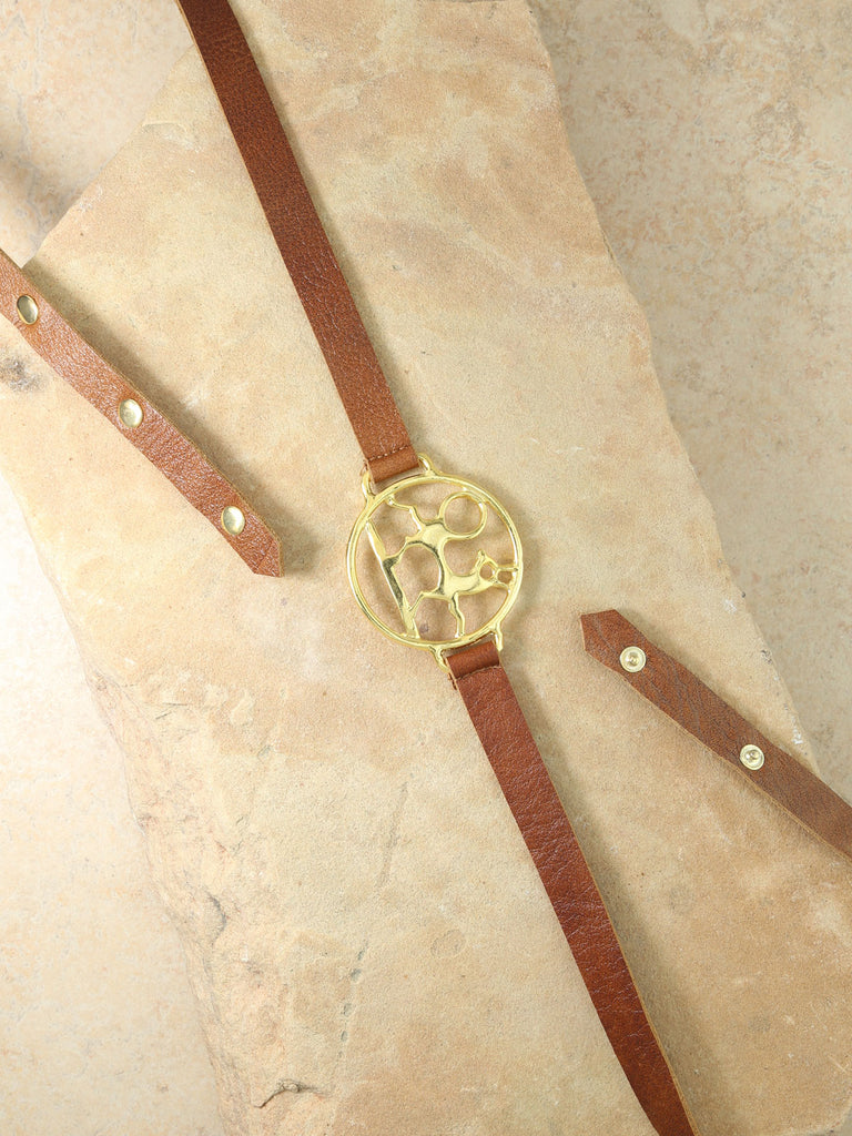 The Midas Leather Belt - Gold