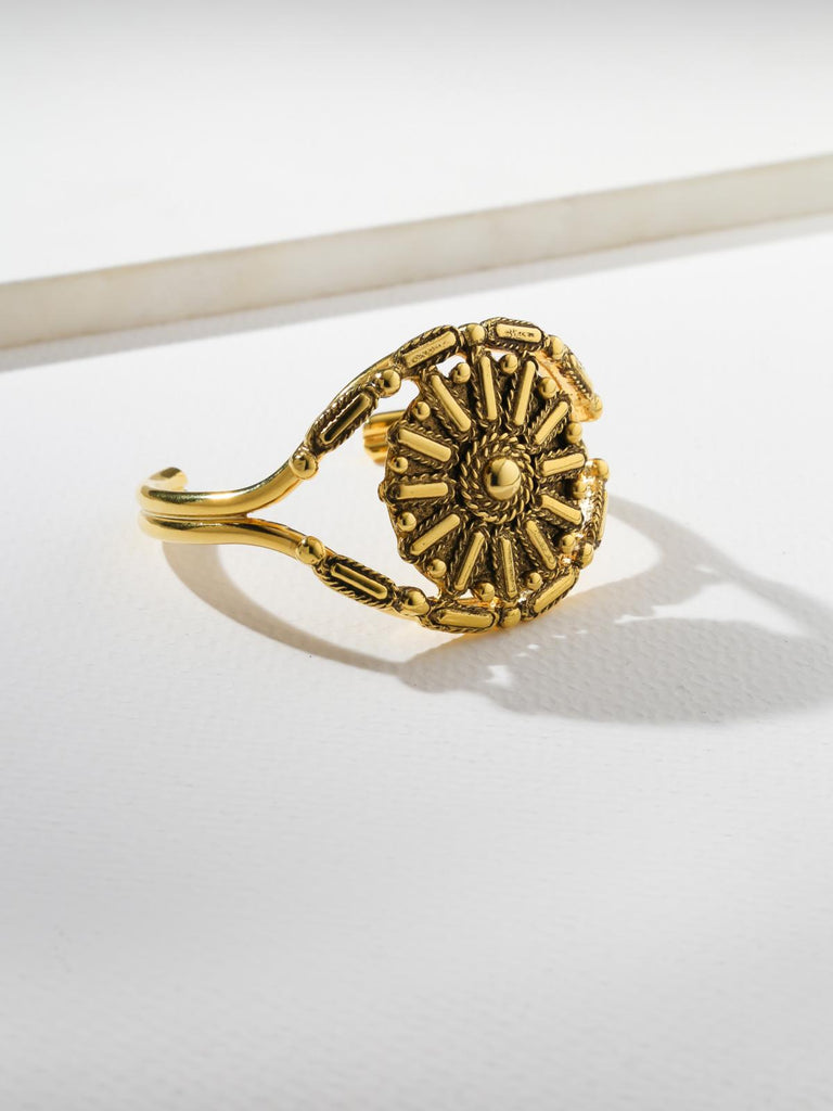 The Evil Eye Gold Cuff