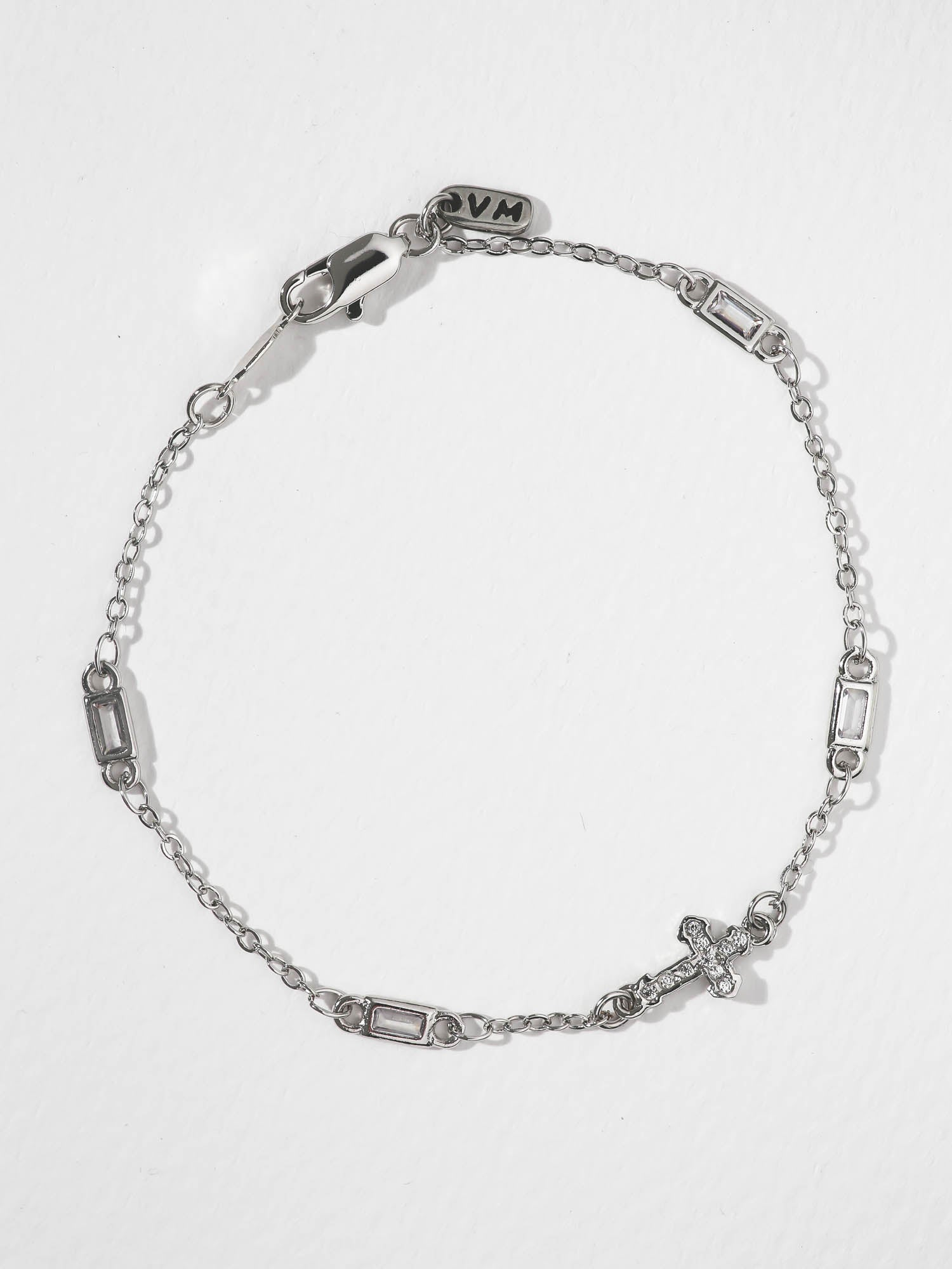 Bracelets The Unchained Cross Bracelet - Silver Vanessa Mooney