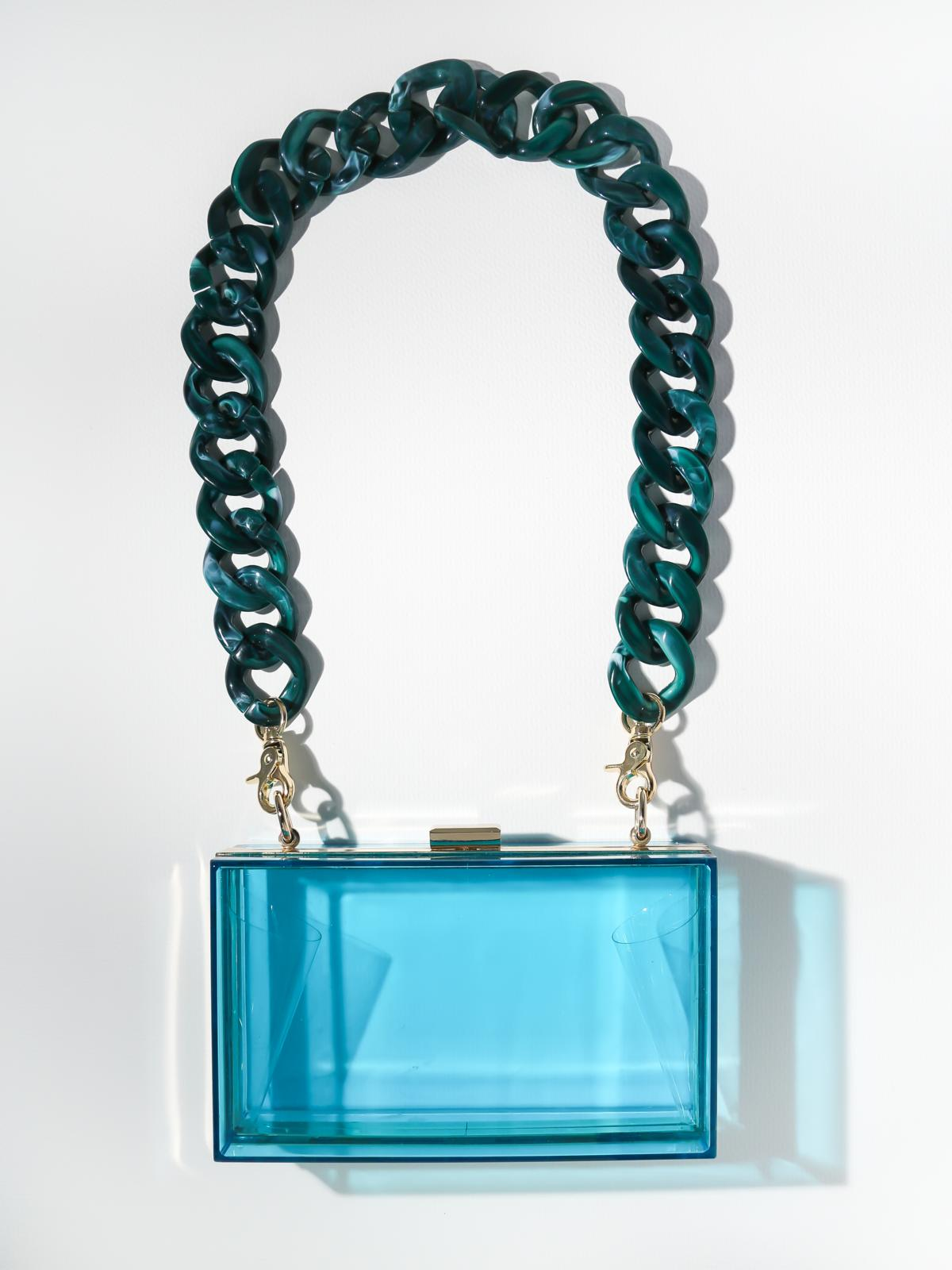 Accessories The Devo Clutch - Teal Vanessa Mooney