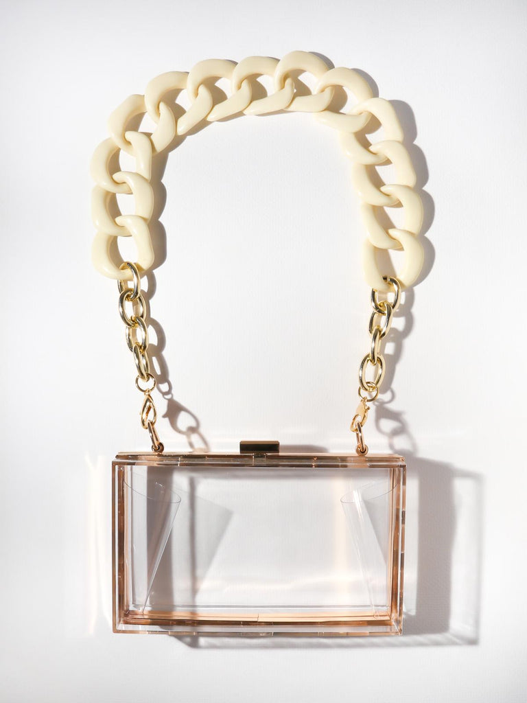 The Blondi Clutch - Clear Ivory