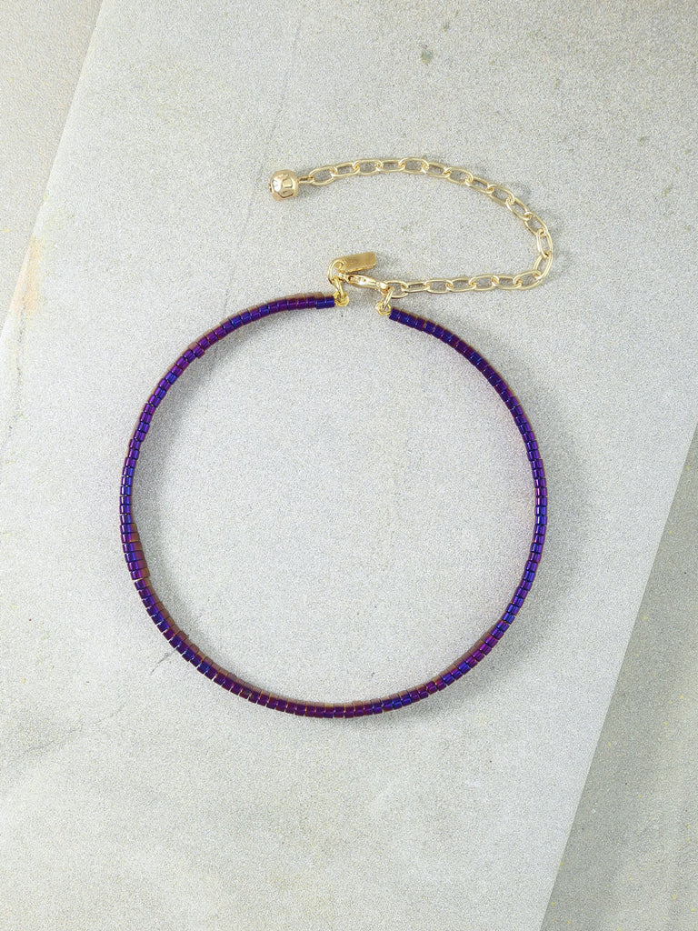 Necklaces The Skylar Purple Choker Vanessa Mooney