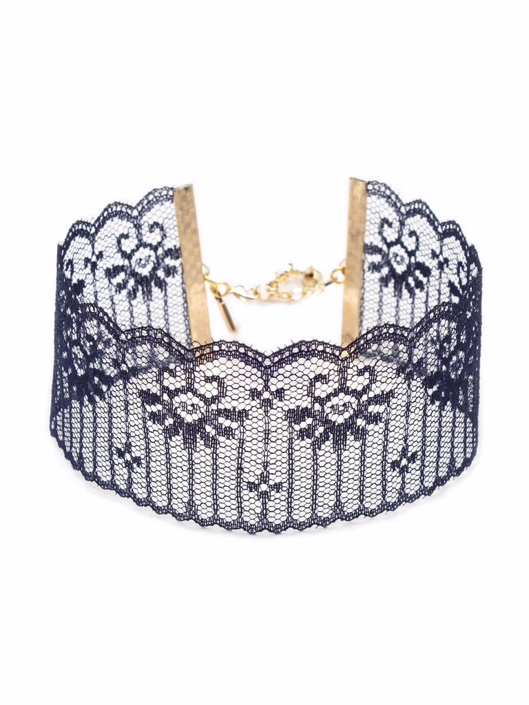 Midnight Blue Lace Choker