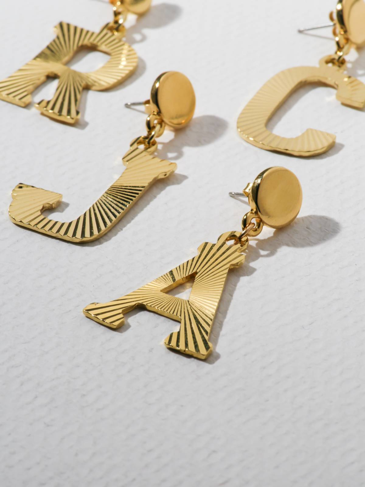 The Illusion Initial Earrings