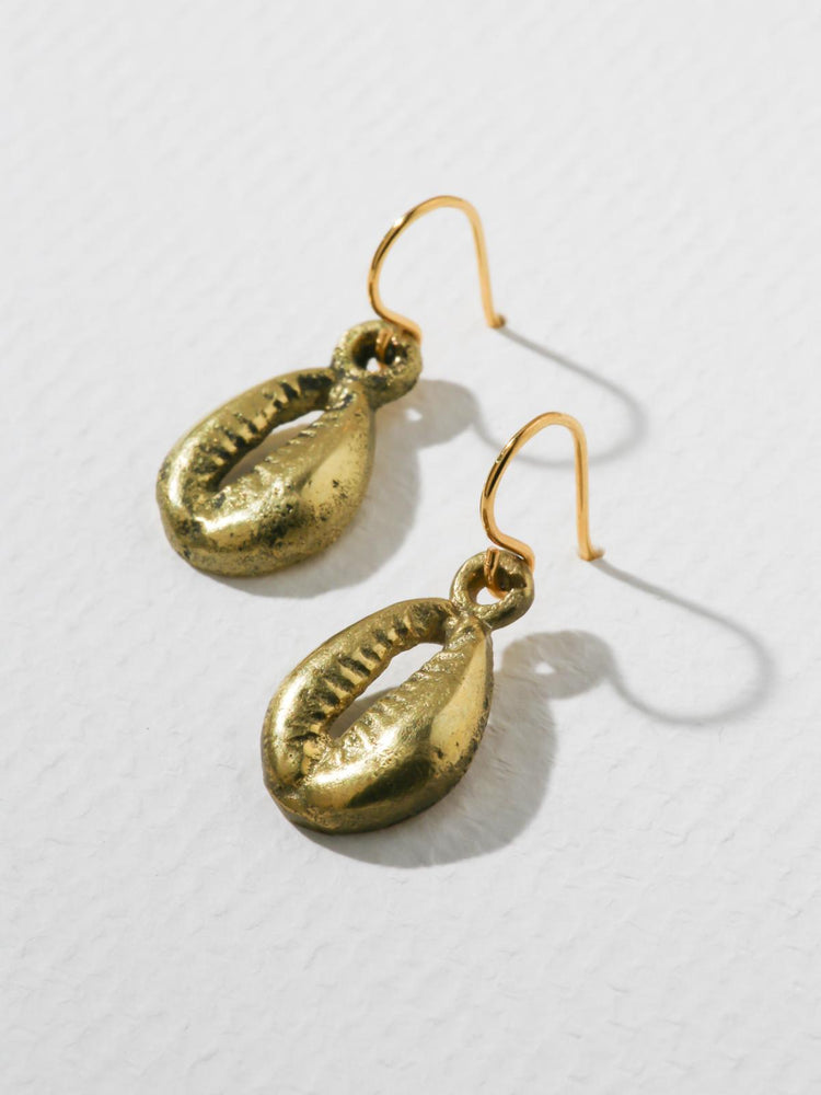 The Rockaway Earrings Brass