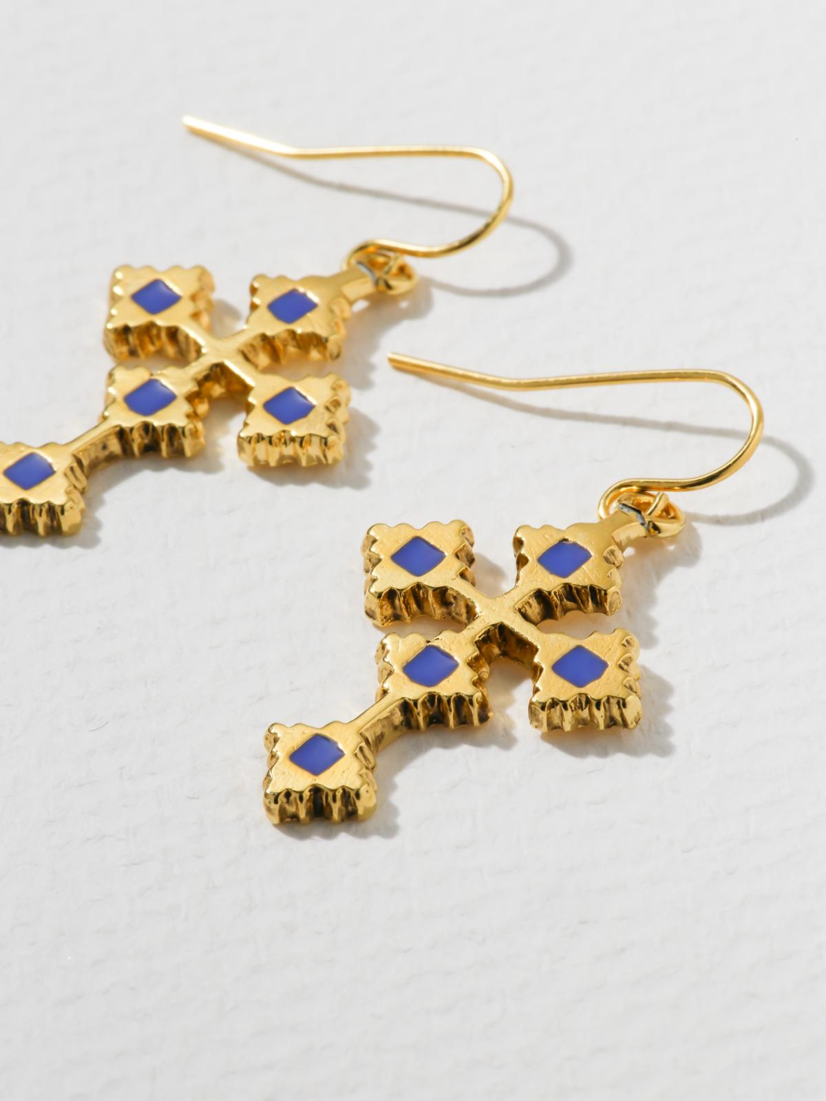 The Paradise Cross Earrings
