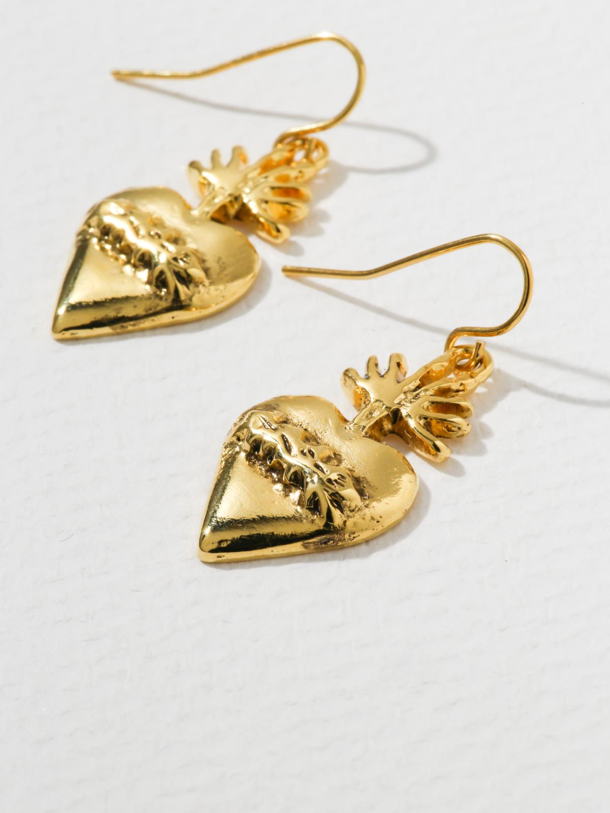 The Sacred Flame Heart Earrings | 40% OFF
