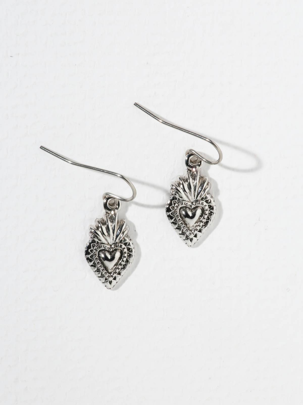 The Sacred Heart Earrings Silver