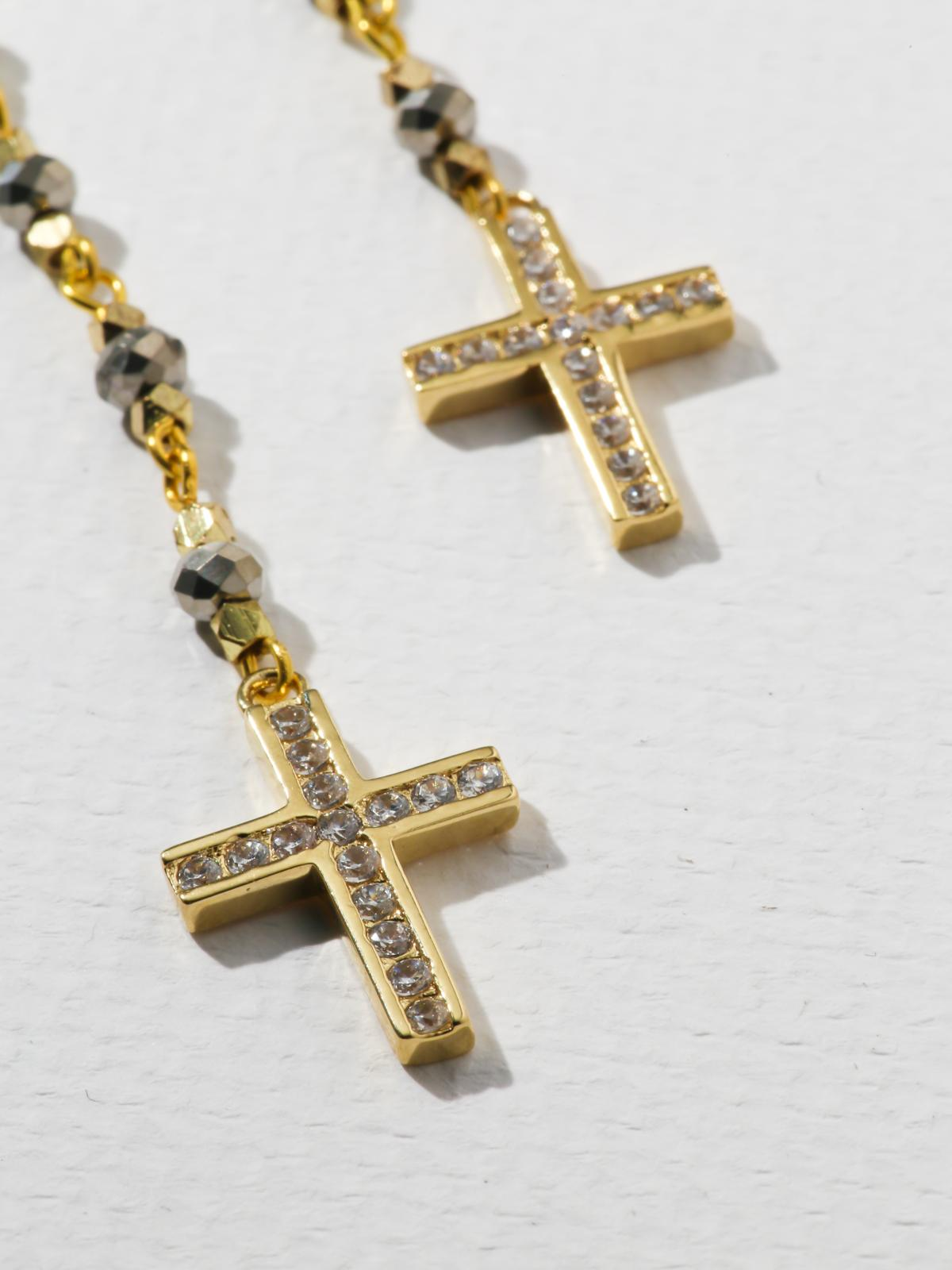 Earrings The Cecilia Cross Earrings Vanessa Mooney