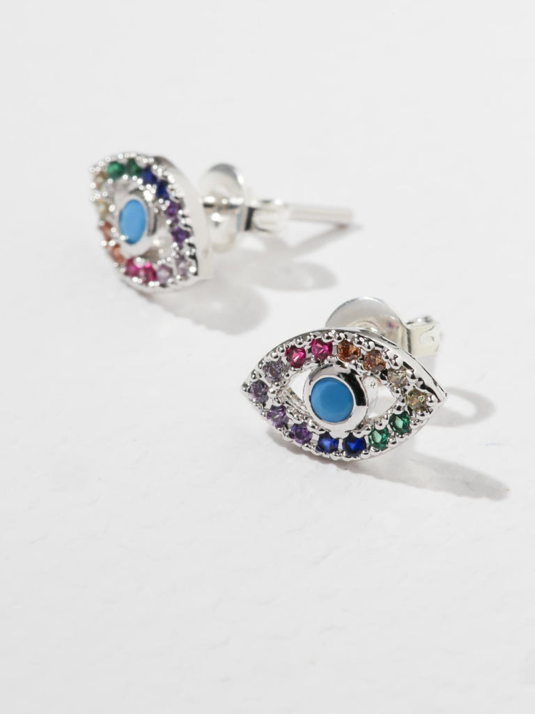 Earrings The Rainbow Eye Earrings Silver Vanessa Mooney