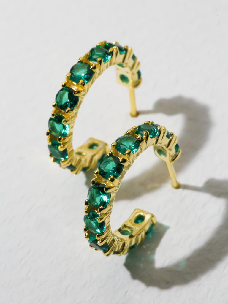 The Princess Earrings - Green