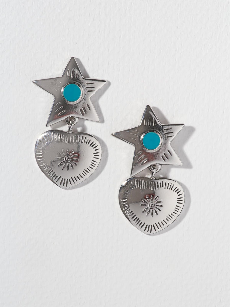 The Lonestar Earrings Silver