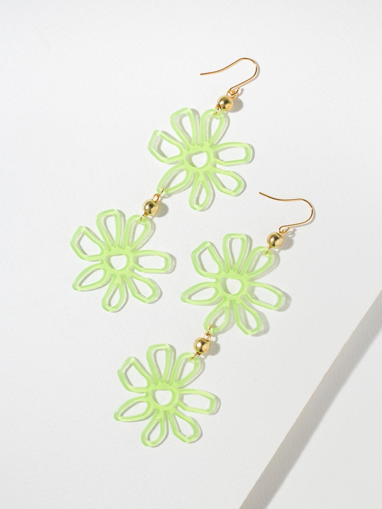 The Daisy Earrings - Green