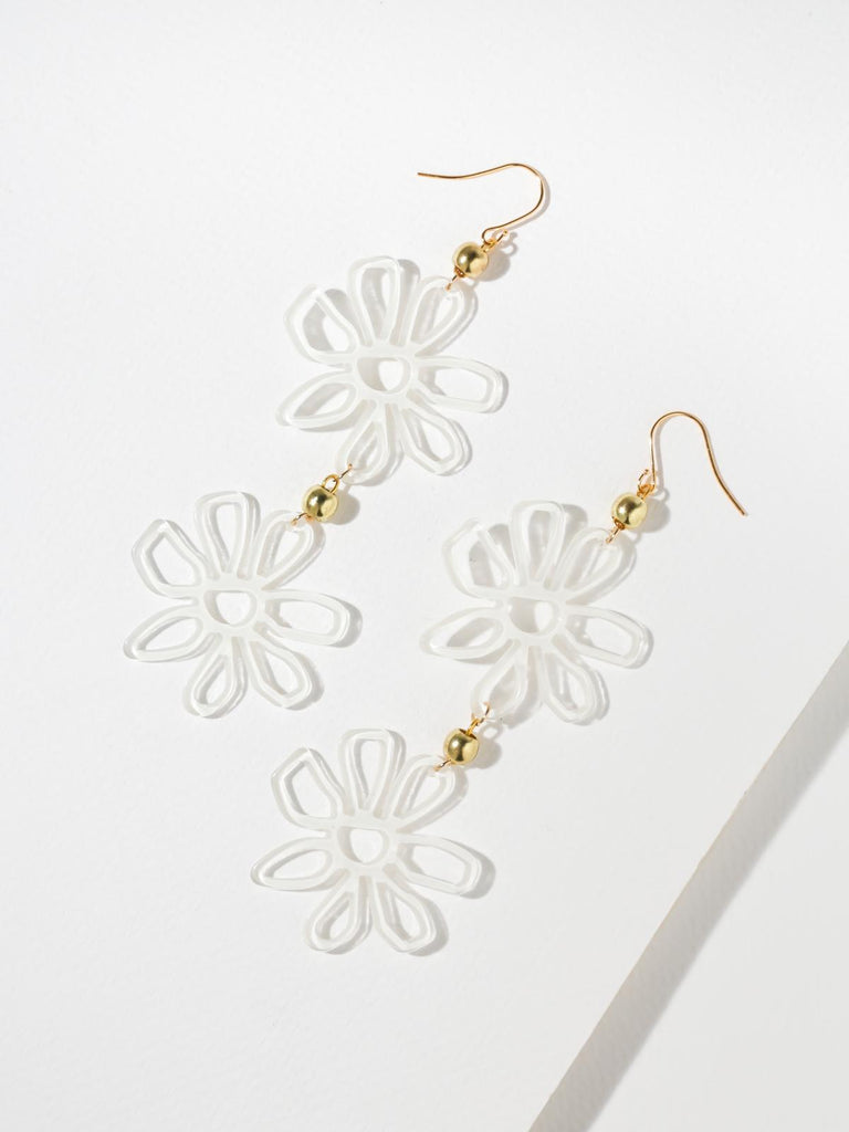 The Daisy Earrings - White