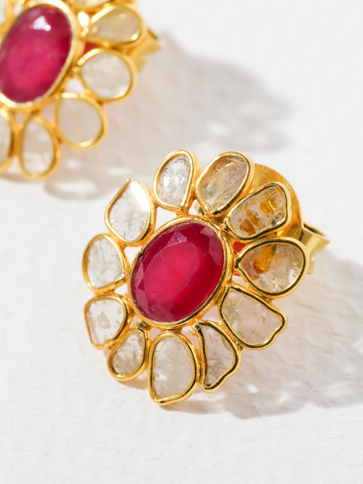 The Ruby Bloom Earrings