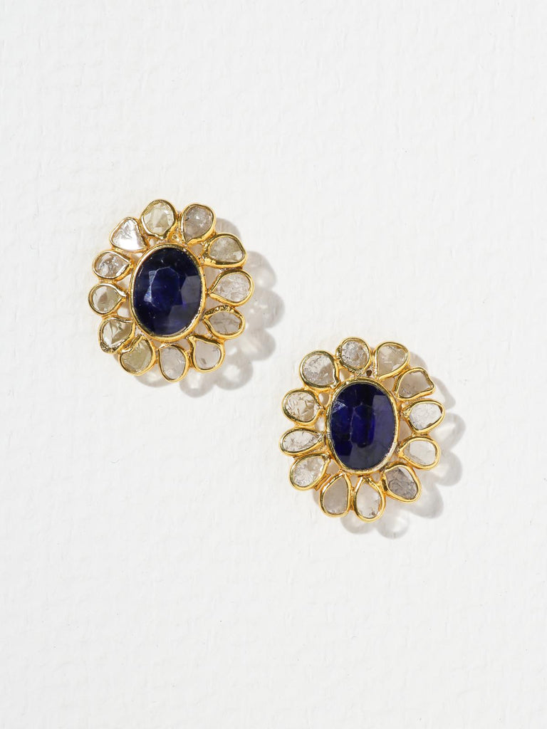The Sapphire Bloom Earrings
