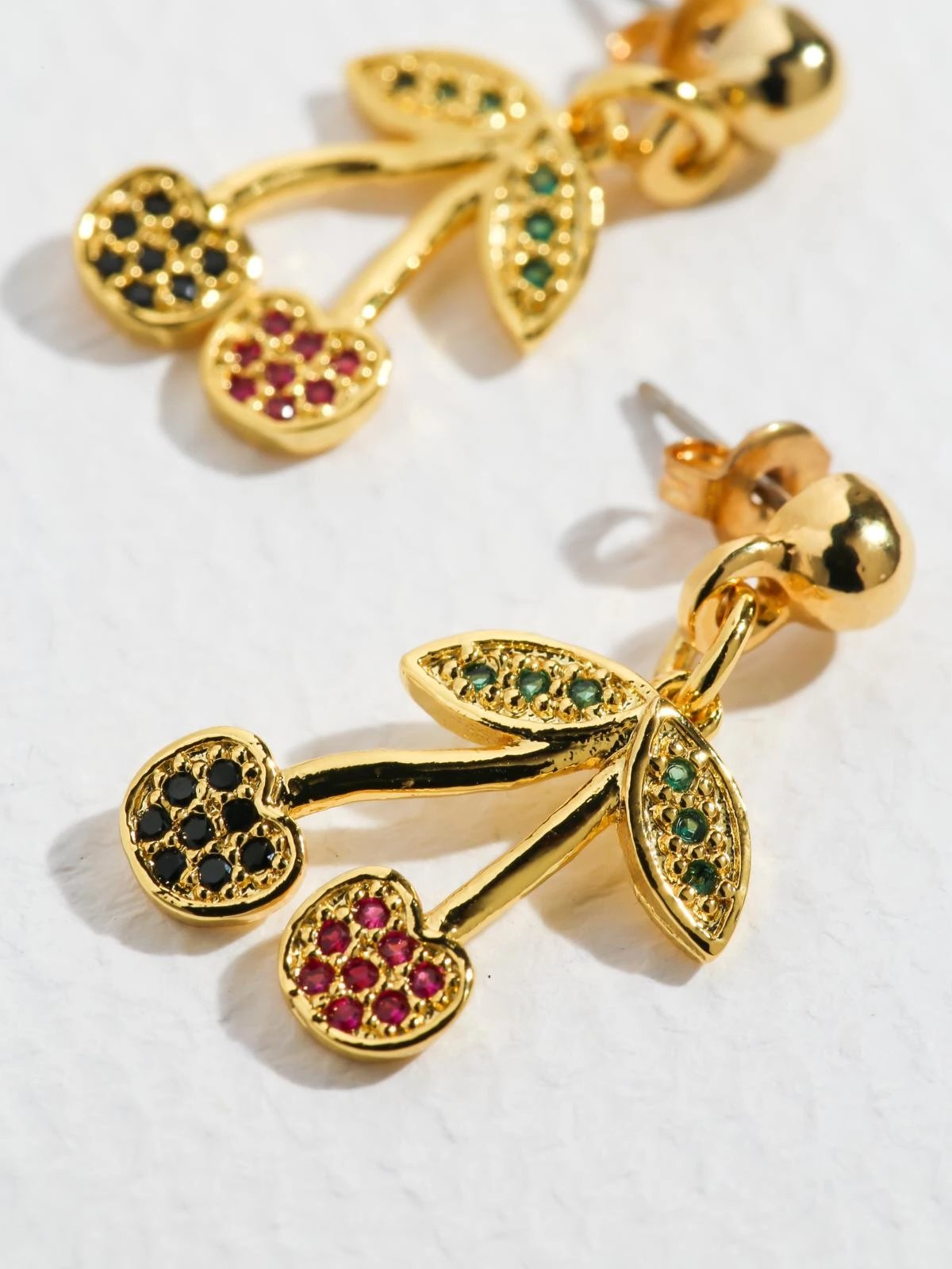 Cherry Earrings in Gold
