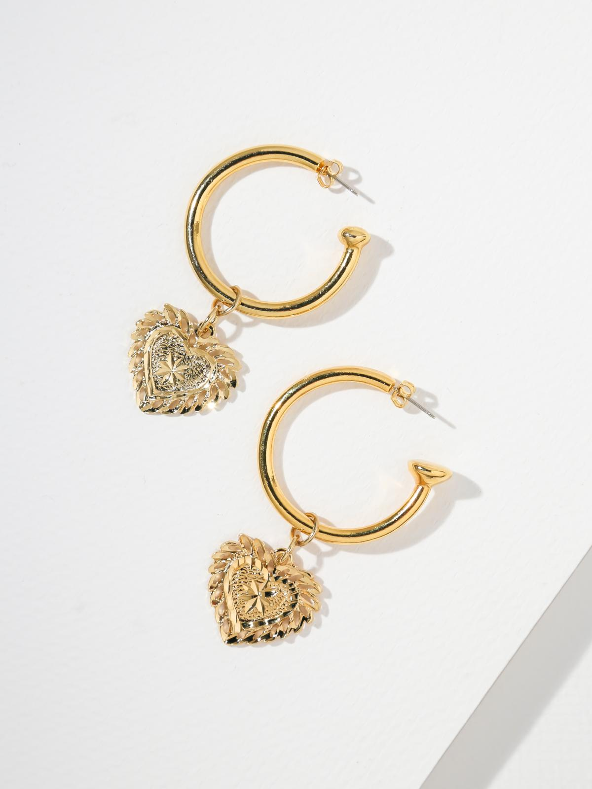 Earrings The Filigree Heart Hoops Vanessa Mooney