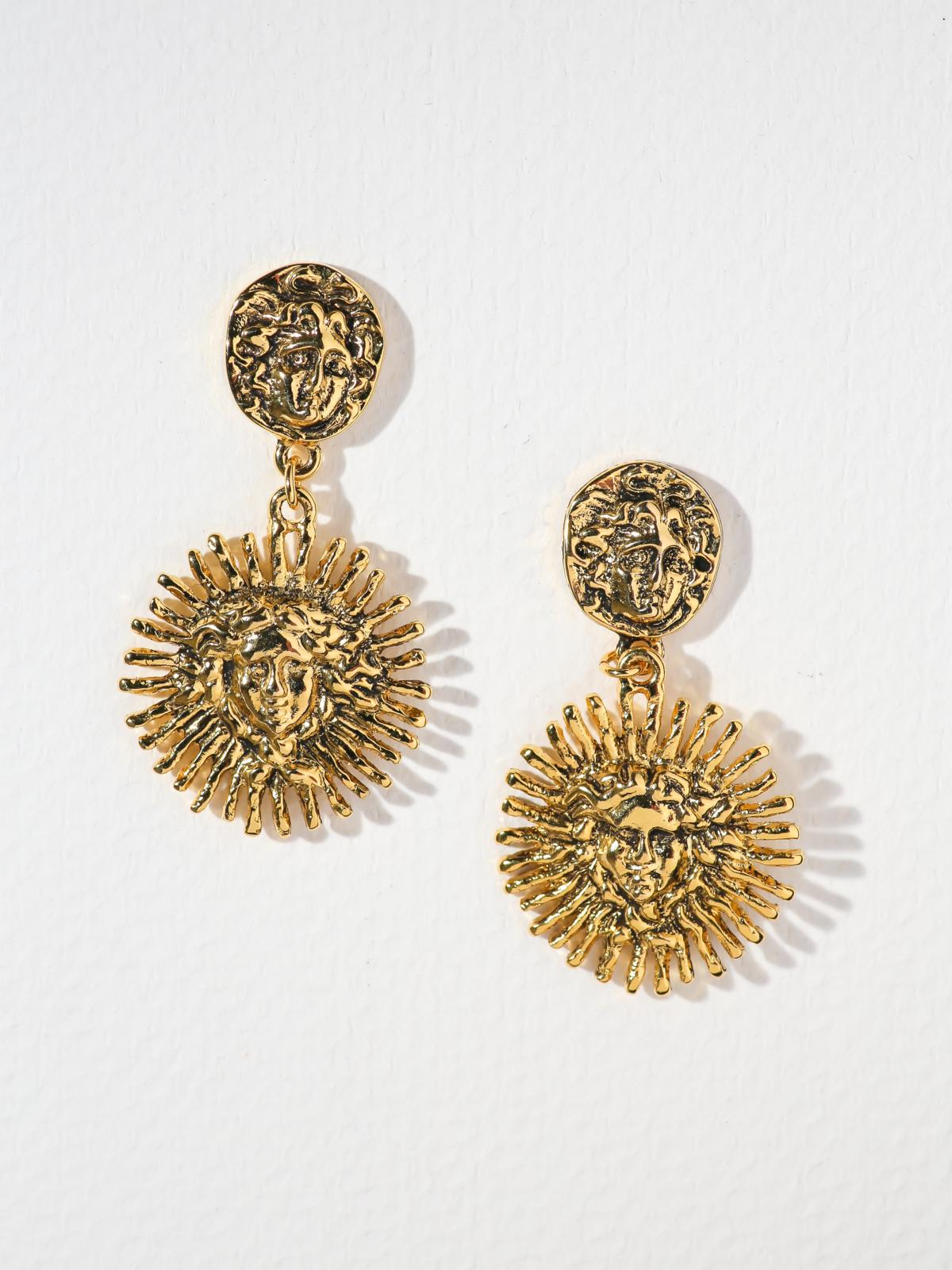 Earrings The Harlow Medusa Earrings Vanessa Mooney
