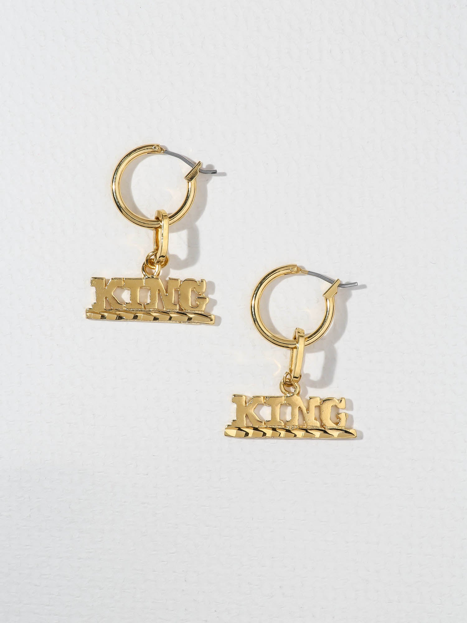 The King Earrings