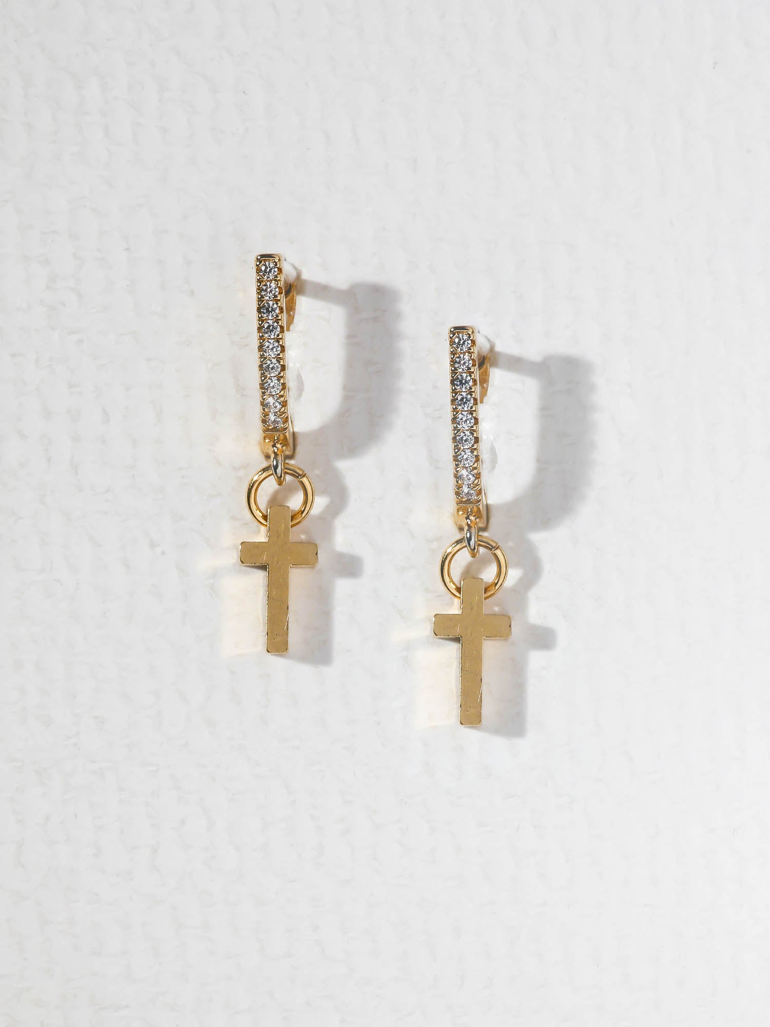 The Little Gold Cross Earrings