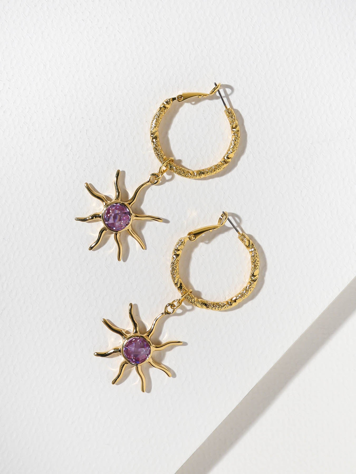Earrings The Pastel Sun Hoop Earrings Vanessa Mooney