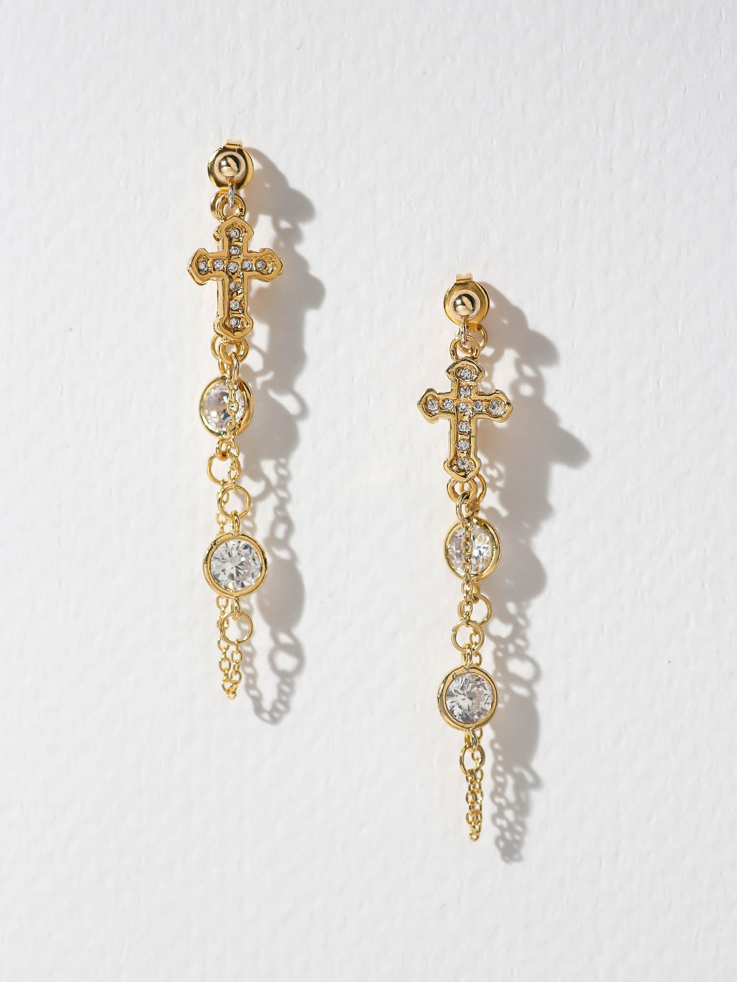 The Unchained Cross Earrings