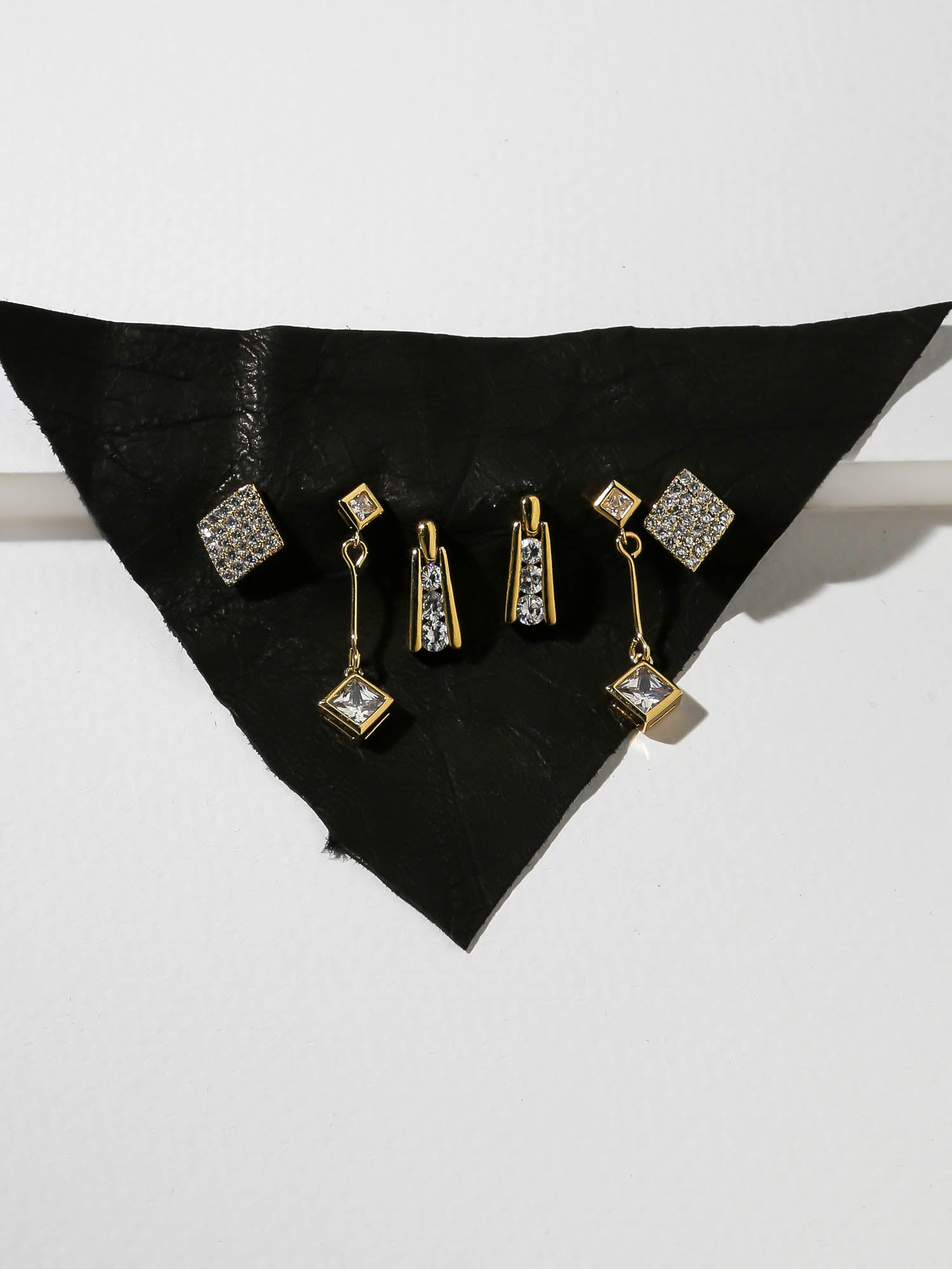 The Deco Diamond Earring Set