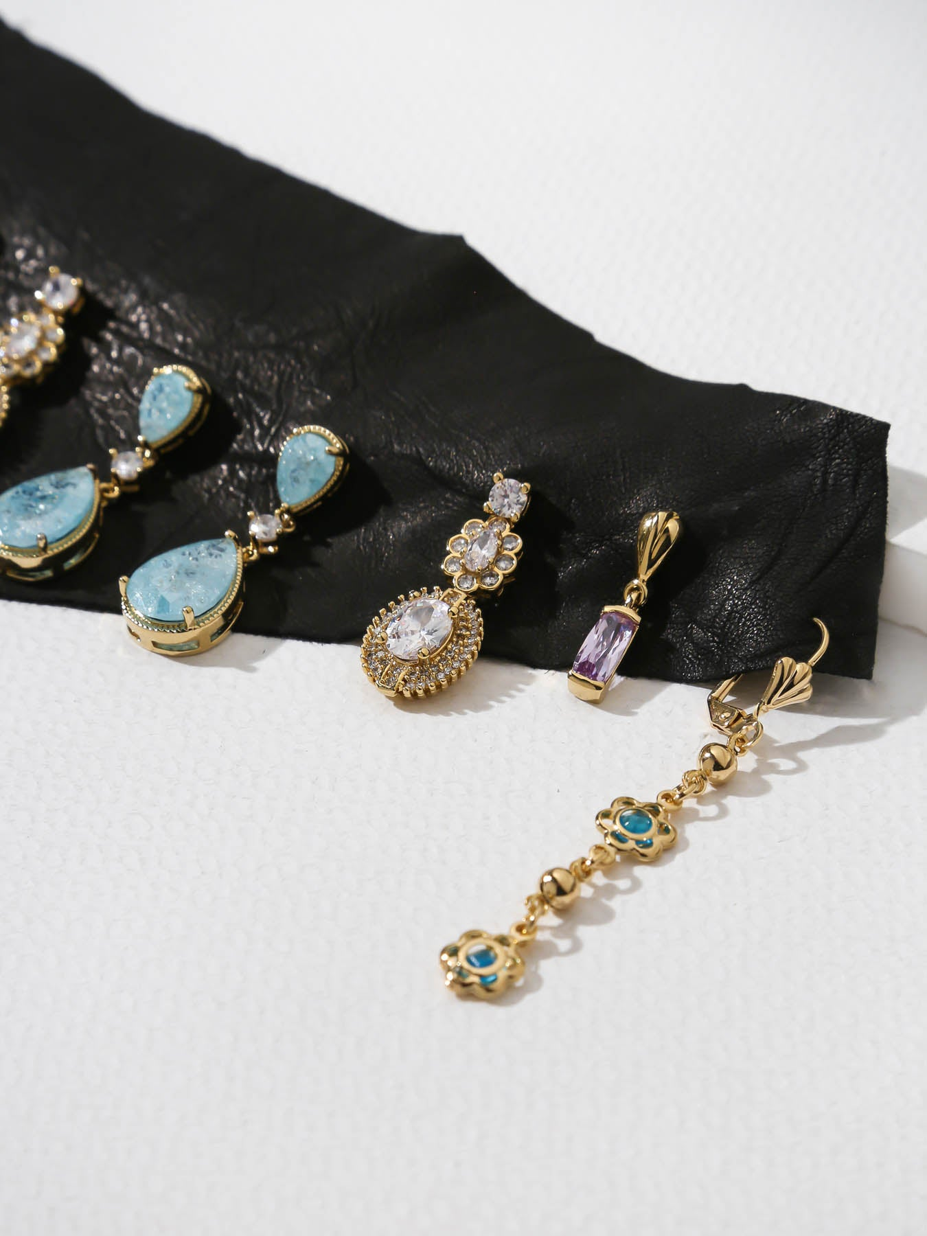 The Aqua Quartz Earring Set