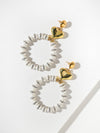 The Go-Go Heart Hoop Earrings