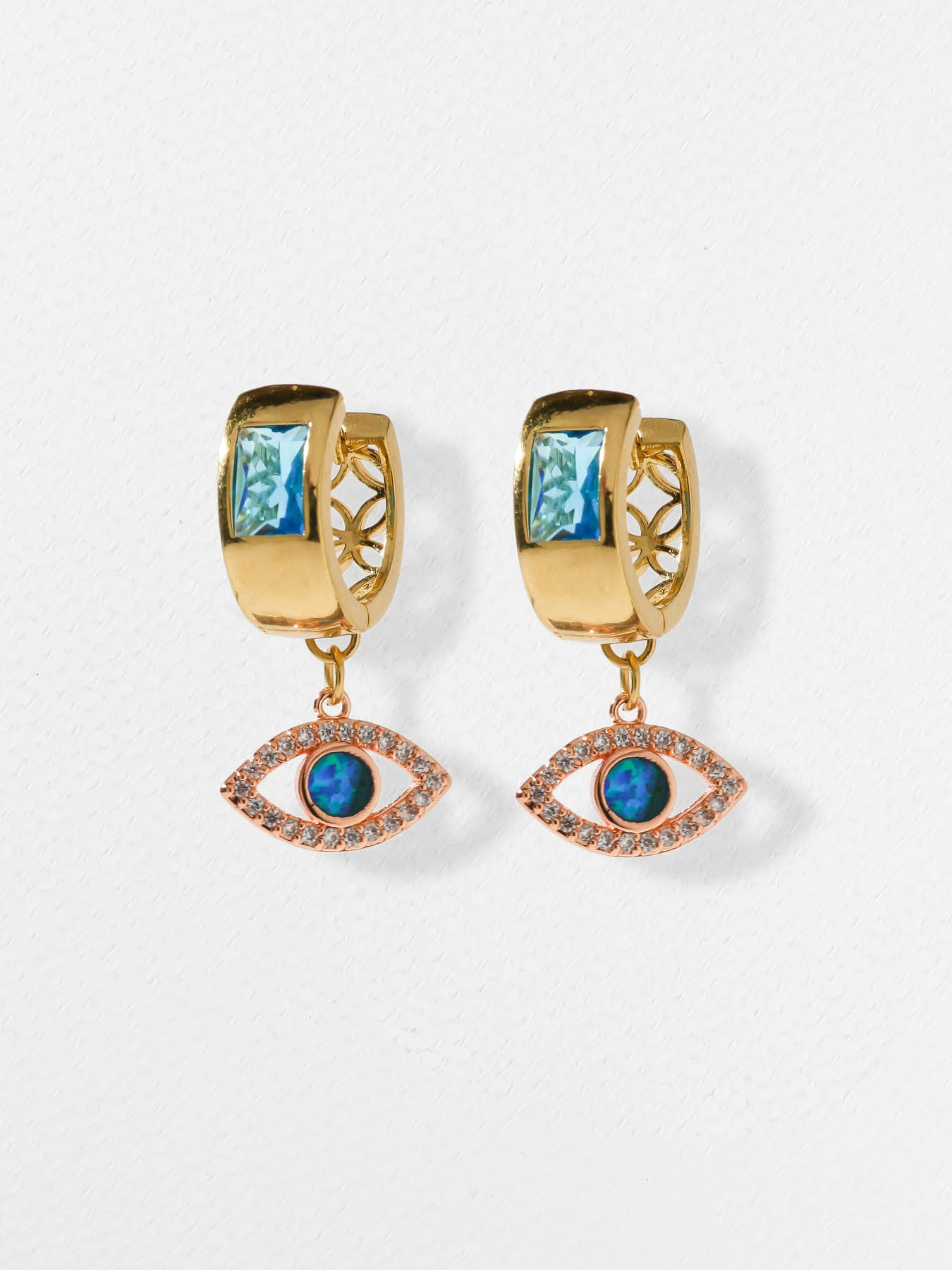 The Iridescent Iris Earrings
