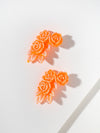 The Jessie Earrings - Coral