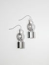 The Lock Earrings - Silver