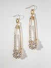 The Glitzy Rose Earrings