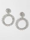 The Divine Diamond Earrings - Silver