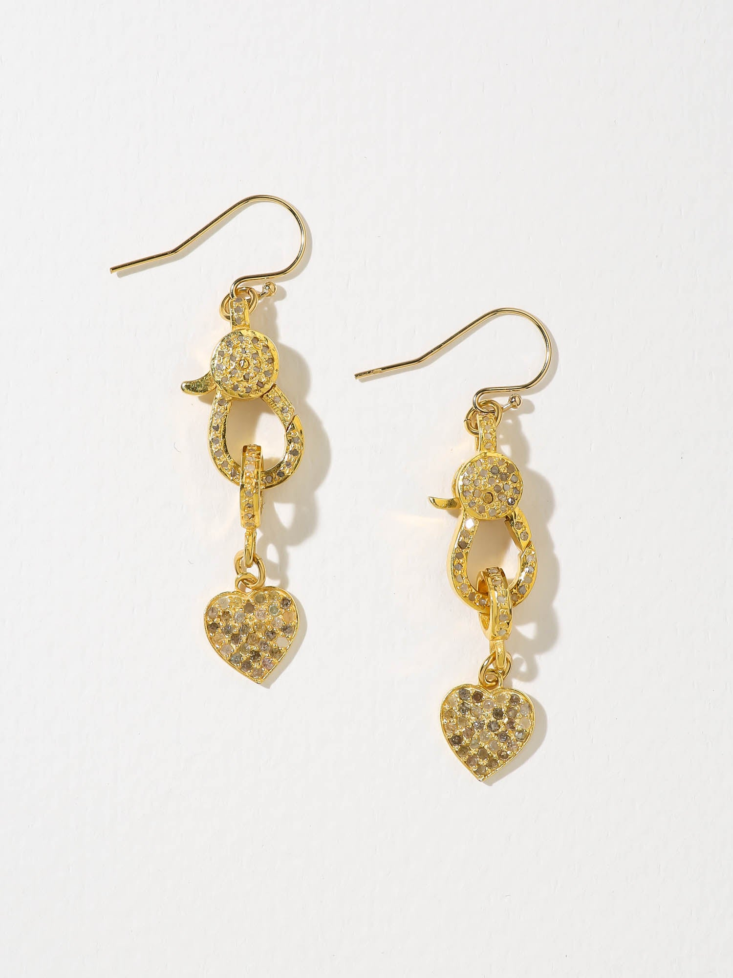 The Faye Diamond Charm Earrings