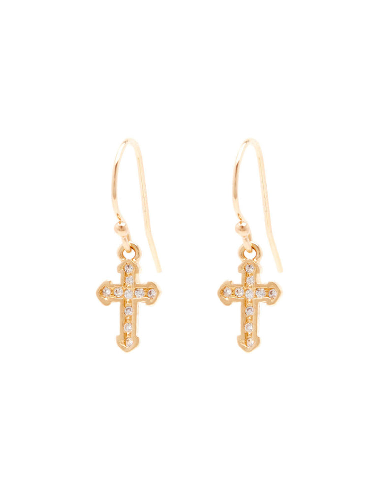 The Stella Cross Earrings