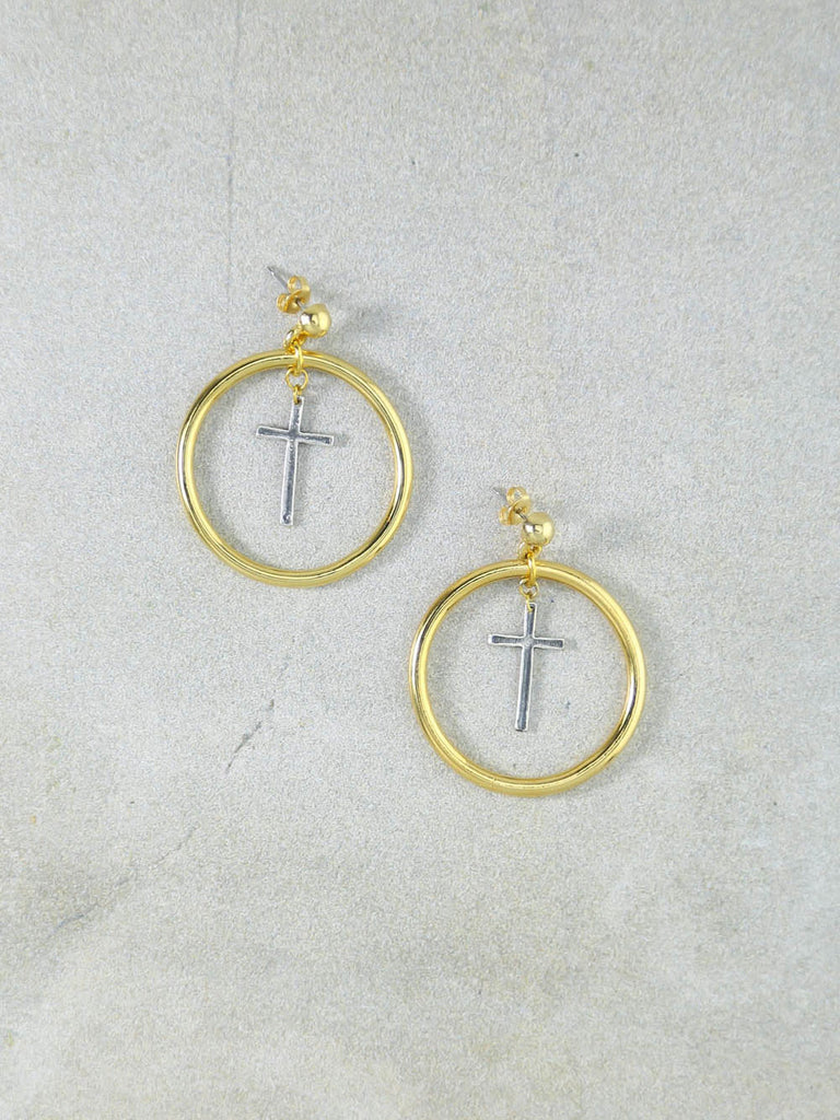 The Amelie Cross Earrings