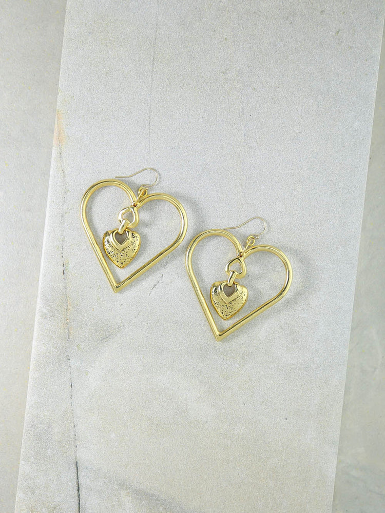 The Our Amour Heart Earrings