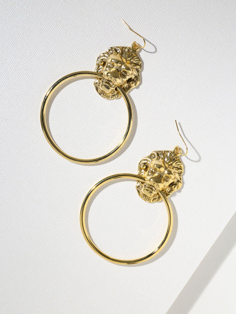 The Vandal Door Knocker Earrings Gold