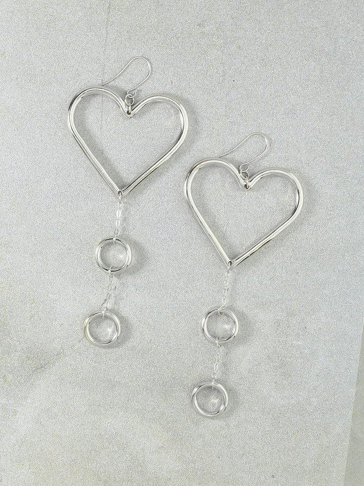 Our Devotion Silver Earrings